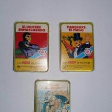 Barajas de cartas: LOTE MINIS FOURNIER. FLASH GORDON. EL HOMBRE ENMASCARADO. MANDRAKE EL MAGO. MINI. NUEVO.. Lote 149711993