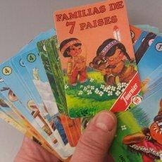 Jeux de cartes: FAMILIAS DE 7 PAISES - FOURNIER. Lote 149865760