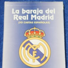 Barajas de cartas: BARAJA REAL MADRID - AS - FOURNIER ¡CARTAS IMPECABLES!. Lote 149872438