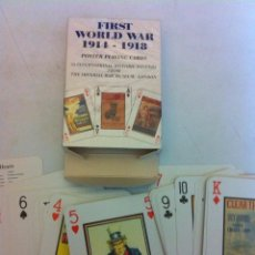 Barajas de cartas: FIRST WORLD WAR 1914-18 (HISTORICAL AT POSTER) -PLAYING CARDS- NUEVAS. Lote 149926186