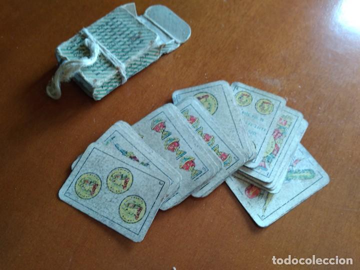 Barajas de cartas: BARAJA ESPAÑOLA EN MINIATURA - ANTIGUA - Foto 4 - 149962762
