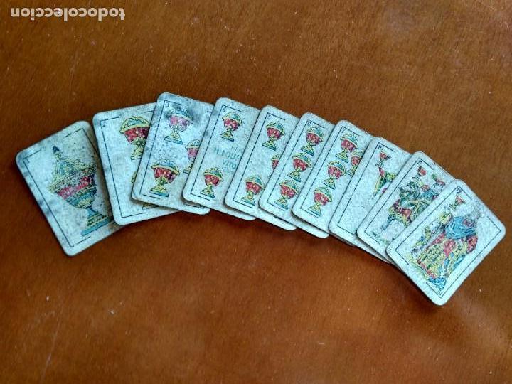 Barajas de cartas: BARAJA ESPAÑOLA EN MINIATURA - ANTIGUA - Foto 10 - 149962762
