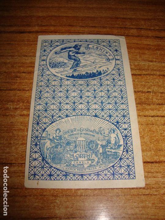 Barajas de cartas: NAIPE CARTA CROMO CHOCOLATES ORTHI AS COPAS CHARLES CHAPLIN - Foto 2 - 149979398