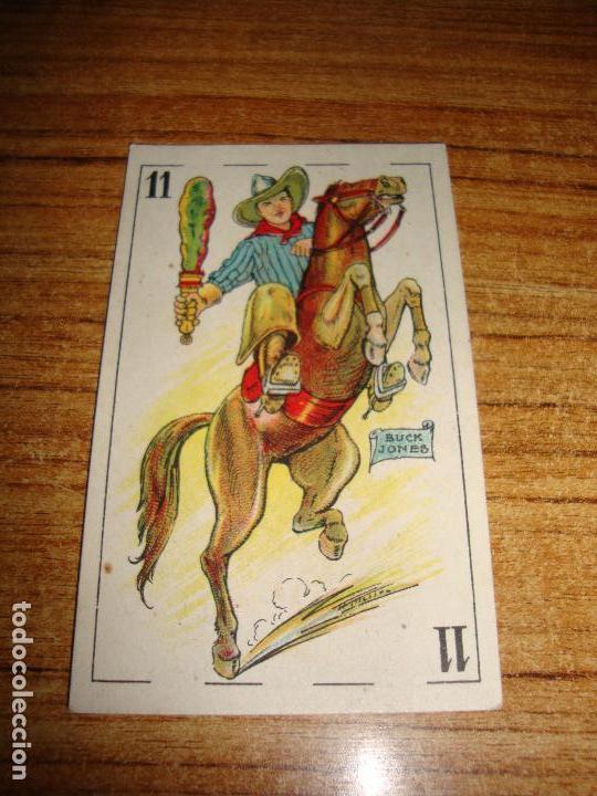 NAIPE CARTA CROMO CHOCOLATES ORTHI CABALLO BASTOS BUCK JONES (Juguetes y Juegos - Cartas y Naipes - Otras Barajas)