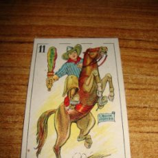Barajas de cartas: NAIPE CARTA CROMO CHOCOLATES ORTHI CABALLO BASTOS BUCK JONES. Lote 149979478