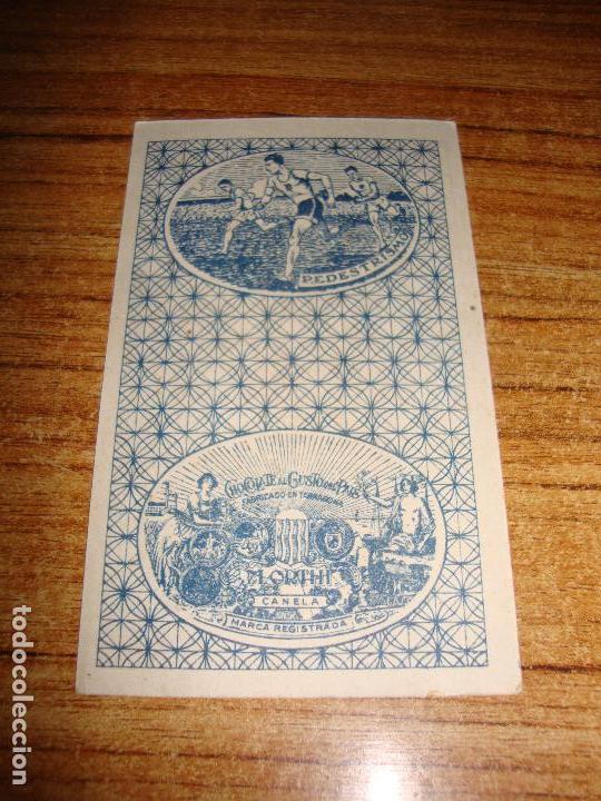 Barajas de cartas: NAIPE CARTA CROMO CHOCOLATES ORTHI CABALLO BASTOS BUCK JONES - Foto 2 - 149979478