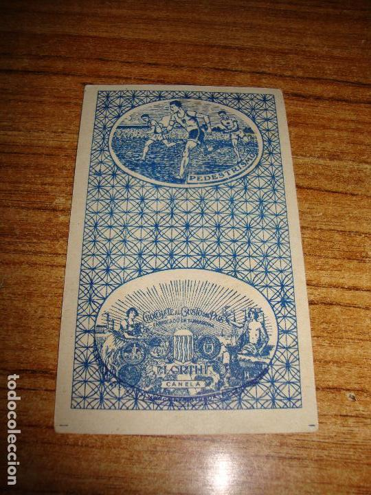 Barajas de cartas: NAIPE CARTA CROMO CHOCOLATES ORTHI 5 ESPADAS - Foto 2 - 149979614