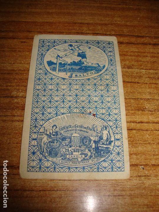 Barajas de cartas: NAIPE CARTA CROMO CHOCOLATES ORTHI 9 ESPADAS - Foto 2 - 149979710