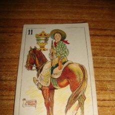 Barajas de cartas: NAIPE CARTA CROMO CHOCOLATES ORTHI CABALLO COPAS HOOT GIBSON. Lote 149979946