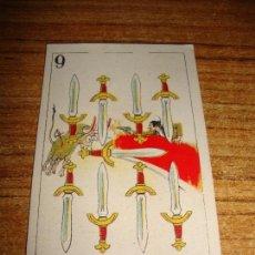 Barajas de cartas: NAIPE CARTA CROMO CHOCOLATES ORTHI 9 ESPADAS. Lote 149980030