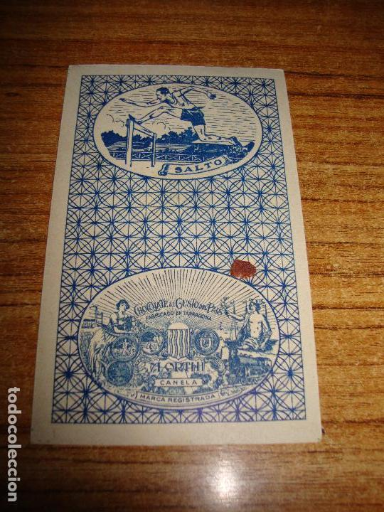 Barajas de cartas: NAIPE CARTA CROMO CHOCOLATES ORTHI 9 ESPADAS - Foto 2 - 149980030