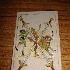 Barajas de cartas: NAIPE CARTA CROMO CHOCOLATES ORTHI 4 ESPADAS. Lote 149980106