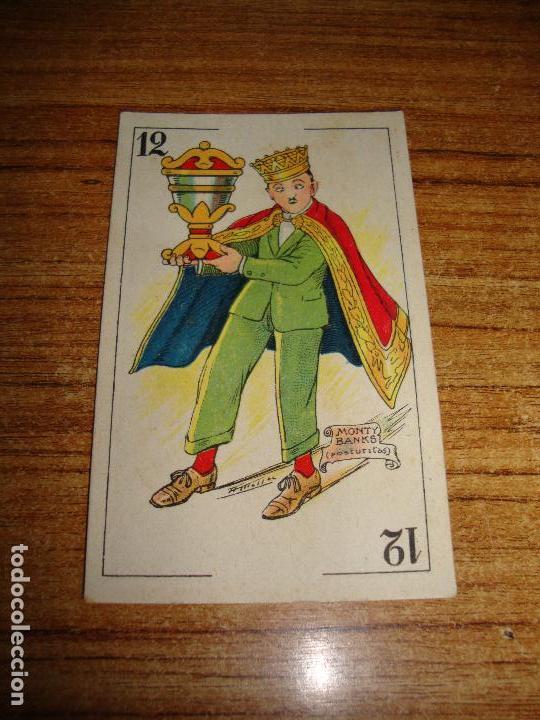 NAIPE CARTA CROMO CHOCOLATES ORTHI REY COPAS MONTY BANKS (Juguetes y Juegos - Cartas y Naipes - Otras Barajas)