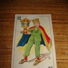 Barajas de cartas: NAIPE CARTA CROMO CHOCOLATES ORTHI REY COPAS MONTY BANKS. Lote 149980346