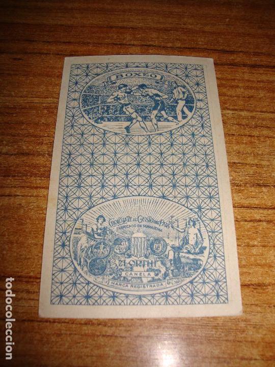 Barajas de cartas: NAIPE CARTA CROMO CHOCOLATES ORTHI REY COPAS MONTY BANKS - Foto 2 - 149980346
