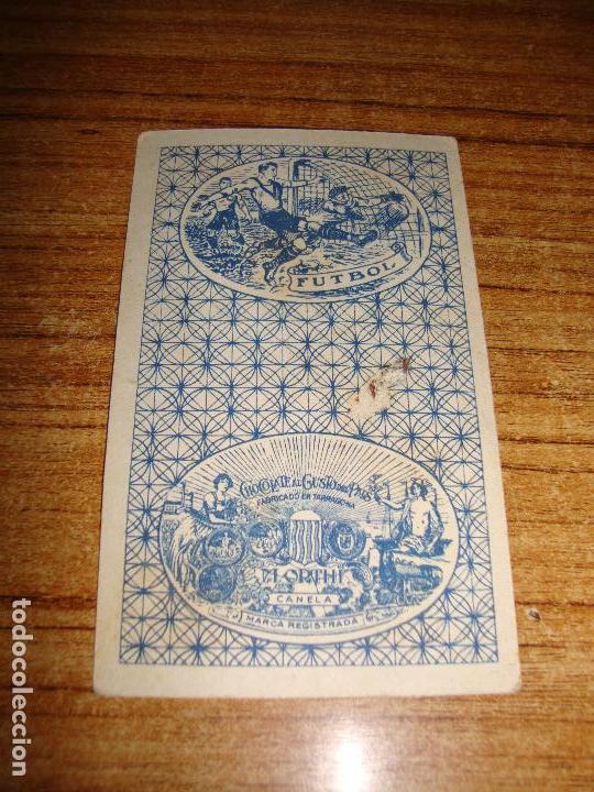 Barajas de cartas: NAIPE CARTA CROMO CHOCOLATES ORTHI 7 COPAS - Foto 2 - 149980494