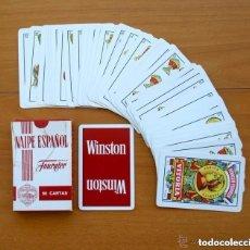 Barajas de cartas: BARAJA HERACLIO FOURNIER - COMPLETA, 50 CARTAS - PUBLICIDAD CIGARRILLOS WINSTON. Lote 149980818