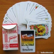 Barajas de cartas: BARAJA HERACLIO FOURNIER - COMPLETA, 50 CARTAS - PUBLICIDAD BANCO PASTOR. Lote 149986694