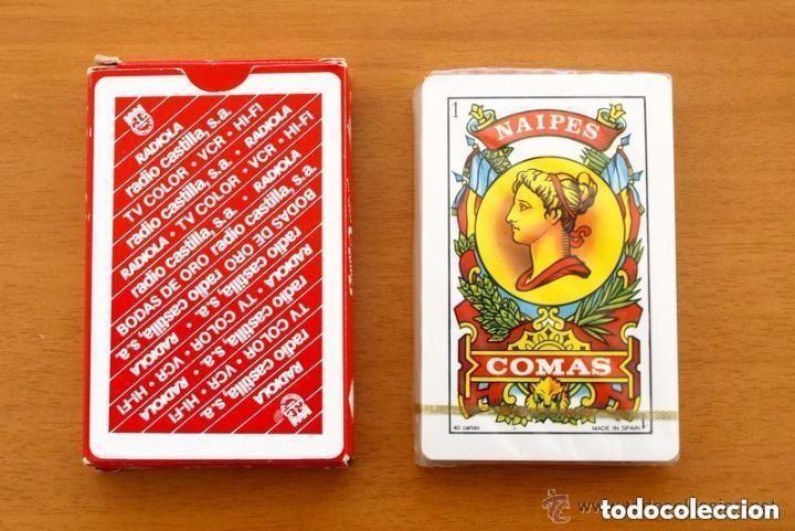 BARAJA NAIPES COMAS - COMPLETA 40 CARTAS SIN ABRIR - PUBLICIDAD RADIOLA RADIO CASTILLA (Juguetes y Juegos - Cartas y Naipes - Baraja Española)