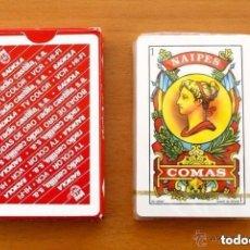 Barajas de cartas: BARAJA NAIPES COMAS - COMPLETA 40 CARTAS SIN ABRIR - PUBLICIDAD RADIOLA RADIO CASTILLA. Lote 149994566