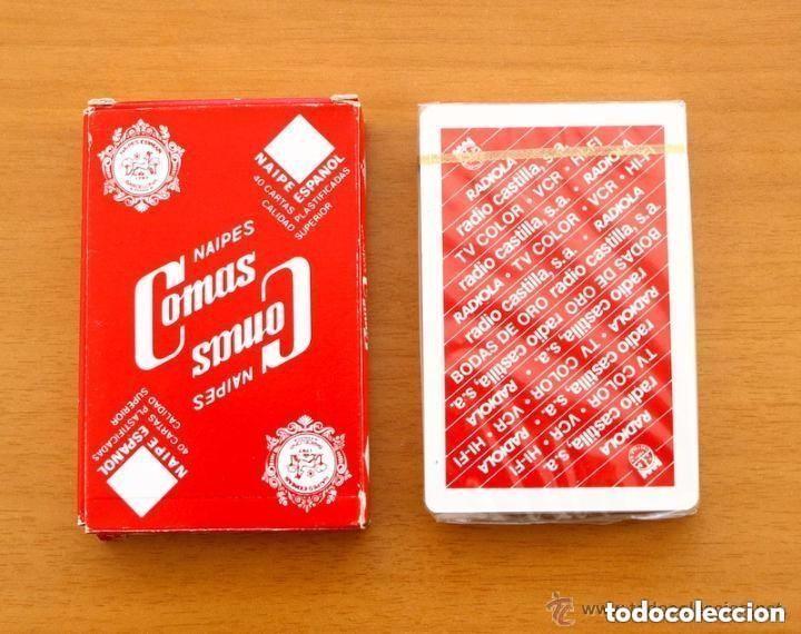 Barajas de cartas: Baraja Naipes Comas - Completa 40 cartas sin abrir - Publicidad Radiola Radio Castilla - Foto 2 - 149994566