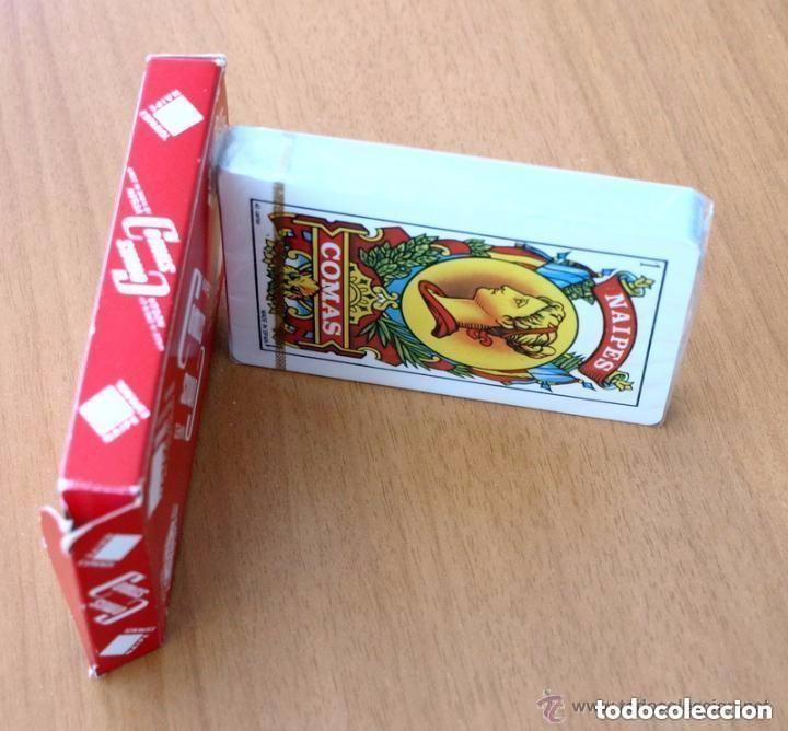 Barajas de cartas: Baraja Naipes Comas - Completa 40 cartas sin abrir - Publicidad Radiola Radio Castilla - Foto 4 - 149994566