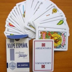 Barajas de cartas: BARAJA HERACLIO FOURNIER - COMPLETA, 40 CARTAS - PUBLICIDAD ARGENTARIA. Lote 149994862