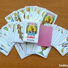 Barajas de cartas: BARAJA NAIPES FOURNIER Nº 131 LILIPUT - COMPLETA, 40 CARTAS -VER FOTOS INTERIORES. Lote 149995822