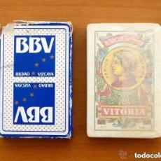 Barajas de cartas: BARAJA HERACLIO FOURNIER - COMPLETA, 50 CARTAS SIN USAR - PUBLICIDAD BBV, BANCO BILBAO VIZCAYA. Lote 149996030