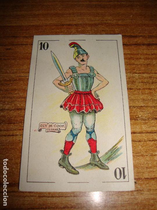 NAIPE CARTA CROMO CHOCOLATES ORTHI 10 ESPADAS CLY DE COOK (Juguetes y Juegos - Cartas y Naipes - Otras Barajas)