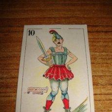 Barajas de cartas: NAIPE CARTA CROMO CHOCOLATES ORTHI 10 ESPADAS CLY DE COOK. Lote 150044018