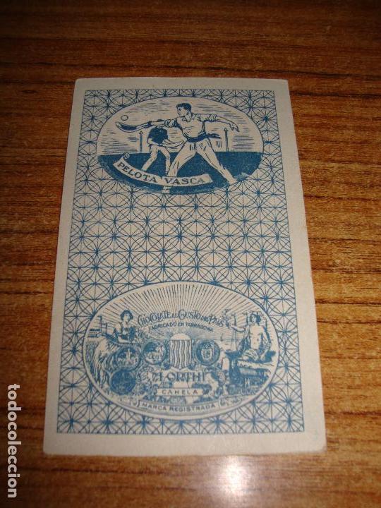 Barajas de cartas: NAIPE CARTA CROMO CHOCOLATES ORTHI 10 ESPADAS CLY DE COOK - Foto 2 - 150044018