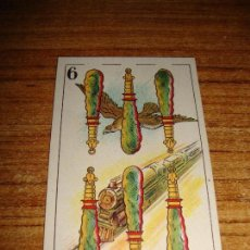 Barajas de cartas: NAIPE CARTA CROMO CHOCOLATES ORTHI 6 BASTOS. Lote 150044042