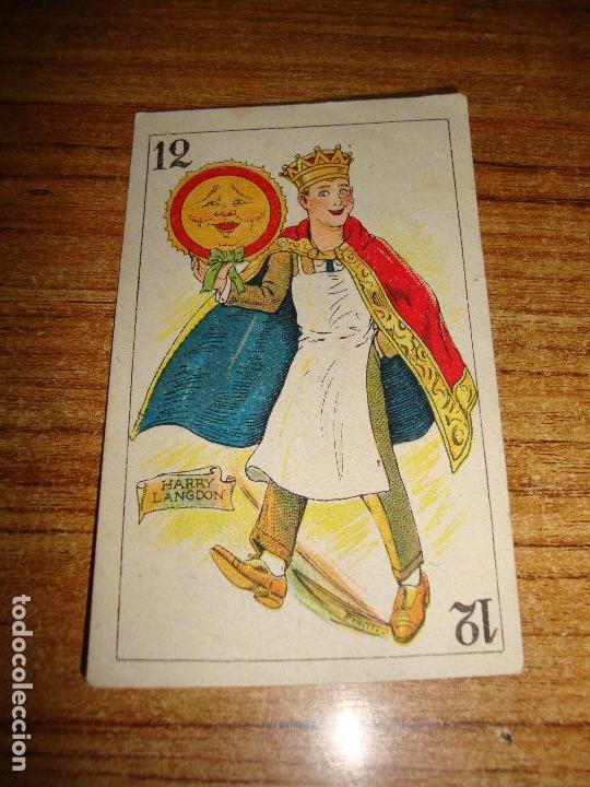 NAIPE CARTA CROMO CHOCOLATES ORTHI 12 OROS HARRY LANGDON (Juguetes y Juegos - Cartas y Naipes - Otras Barajas)