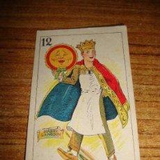 Barajas de cartas: NAIPE CARTA CROMO CHOCOLATES ORTHI 12 OROS HARRY LANGDON. Lote 150044066