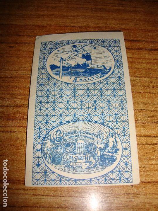 Barajas de cartas: NAIPE CARTA CROMO CHOCOLATES ORTHI 12 OROS HARRY LANGDON - Foto 2 - 150044066