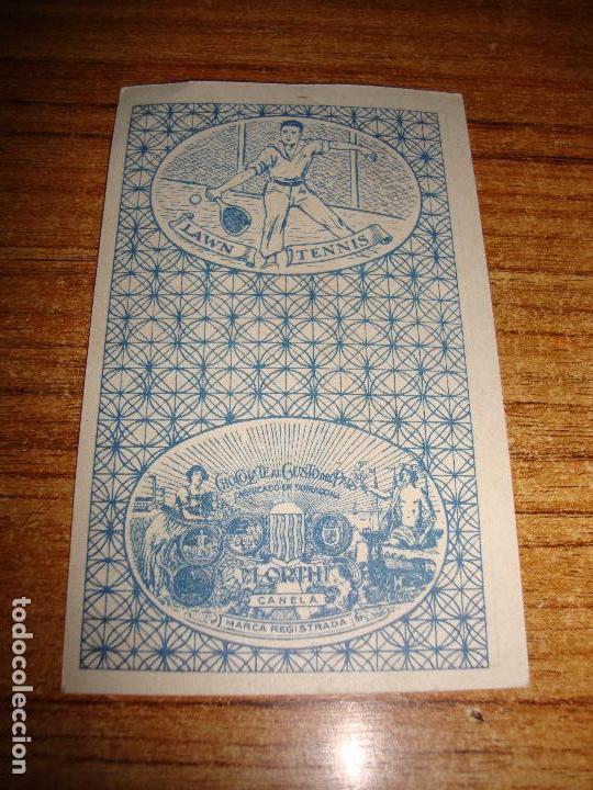 Barajas de cartas: NAIPE CARTA CROMO CHOCOLATES ORTHI 2 ESPADAS - Foto 2 - 150046246