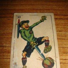 Barajas de cartas: NAIPE CARTA CROMO CHOCOLATES DANIEL FERNANDEZ 10 ESPADAS. Lote 150046658