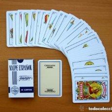 Barajas de cartas: BARAJA HERACLIO FOURNIER - COMPLETA, 40 CARTAS - PUBLICIDAD LICOR CAROLANS. Lote 150047422