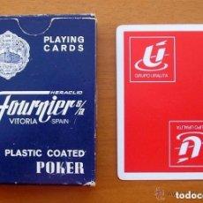 Barajas de cartas: BARAJA HERACLIO FOURNIER - POKER, 54 CARTAS - PUBLICIDAD GRUPO URALITA. Lote 150049694