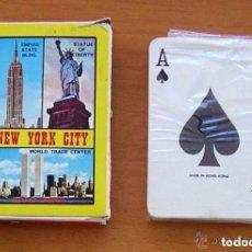 Barajas de cartas: BARAJA DE POKER - COMPLETA, SIN ABRIR - PUBLICIDAD NEW YORK CITY. Lote 150049822