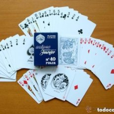 Barajas de cartas: BARAJA HERACLIO FOURNIER - POKER AMERICANO - COMPLETA - VER FOTOS INTERIORES. Lote 150067582