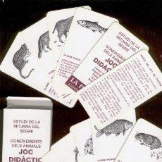 Jeux de cartes: BARAJA CARTAS *JOC DIDÀCTIC, CONEIXEMENT DELS ANIMALS* LA MITJANA, LLEIDA. Lote 150074594