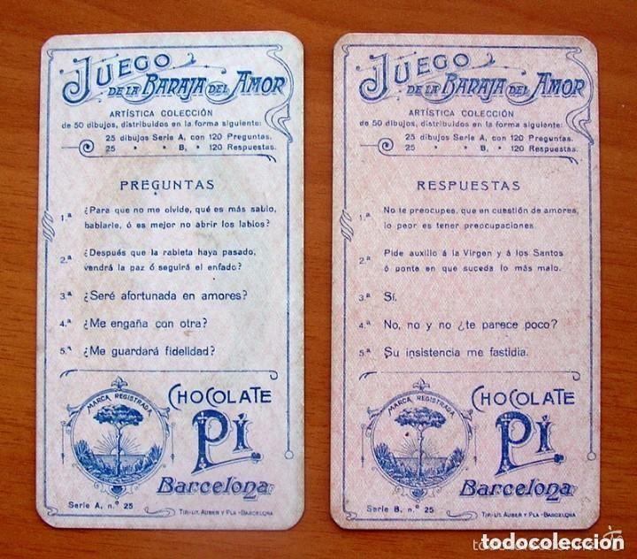 Barajas de cartas: Baraja del amor - Juego de mesa - Chocolates Pi - Completa, 50 cartas - ver fotos interiores - Foto 3 - 150109242