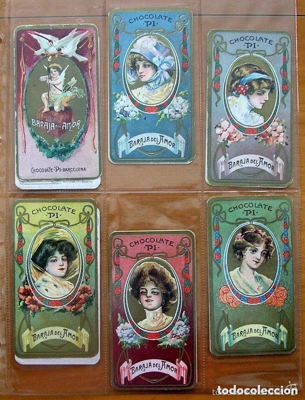 Barajas de cartas: Baraja del amor - Juego de mesa - Chocolates Pi - Completa, 50 cartas - ver fotos interiores - Foto 4 - 150109242