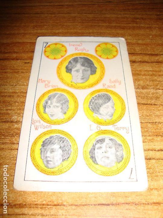 NAIPE CARTA CROMO CHOCOLATES RIUCORD 7 OROS (Juguetes y Juegos - Cartas y Naipes - Otras Barajas)