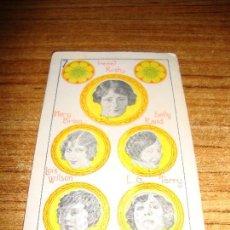 Barajas de cartas: NAIPE CARTA CROMO CHOCOLATES RIUCORD 7 OROS. Lote 150110354