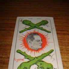 Barajas de cartas: NAIPE CARTA CROMO CHOCOLATES RIUCORD 4 BASTOS LYONEL BARRYMORE. Lote 150110822