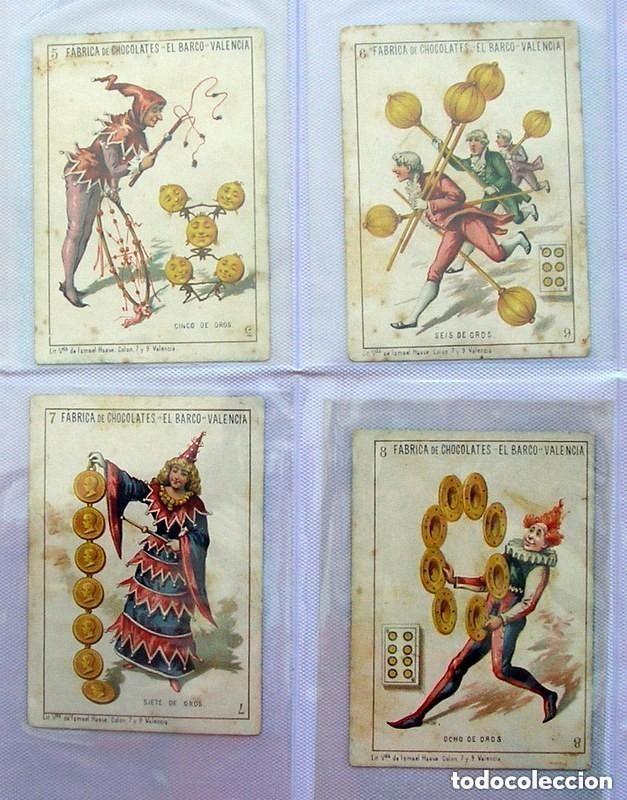 Barajas de cartas: Baraja Chocolates EL BARCO - La grande, tamaño 11,5x8 - COMPLETA, 48 cartas - Ver fotos interiores - Foto 3 - 150111306