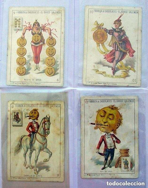 Barajas de cartas: Baraja Chocolates EL BARCO - La grande, tamaño 11,5x8 - COMPLETA, 48 cartas - Ver fotos interiores - Foto 4 - 150111306